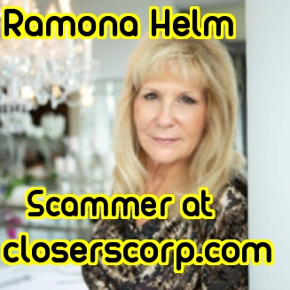 Ramona Helm.Scammer at Closers Corp, LLC as a Real Estate Consultant.